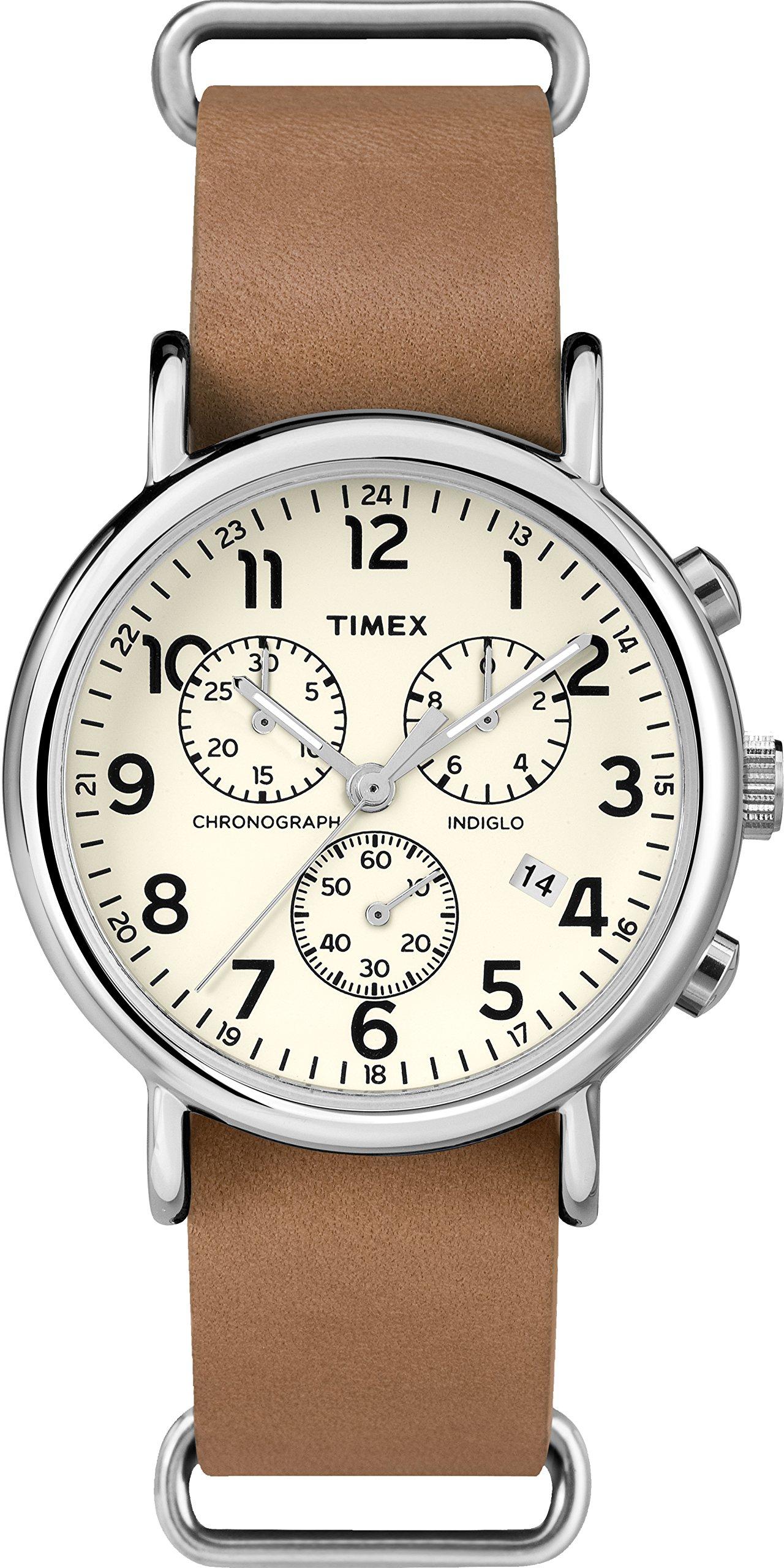 Timex Reloj Analógico para Hombre de Cuarzo con Correa en Cuero TWC063500