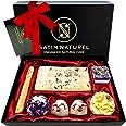 7 Bombes de Bain BIO à l'Huile Essentielle - Coffret Cadeau Femme Vegan - Idée Cadeau Femme de Luxe avec Nœud en Satin - Boul