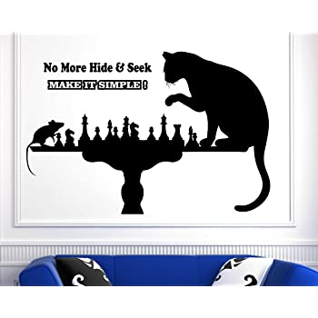 Cat & Mouse Funny Wall Sticker