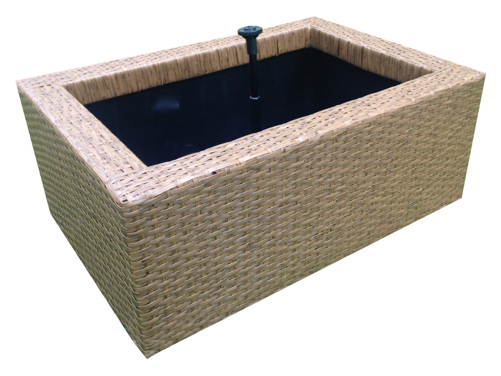 Heissner 015195-00 Rattan Water Garden - Black-P