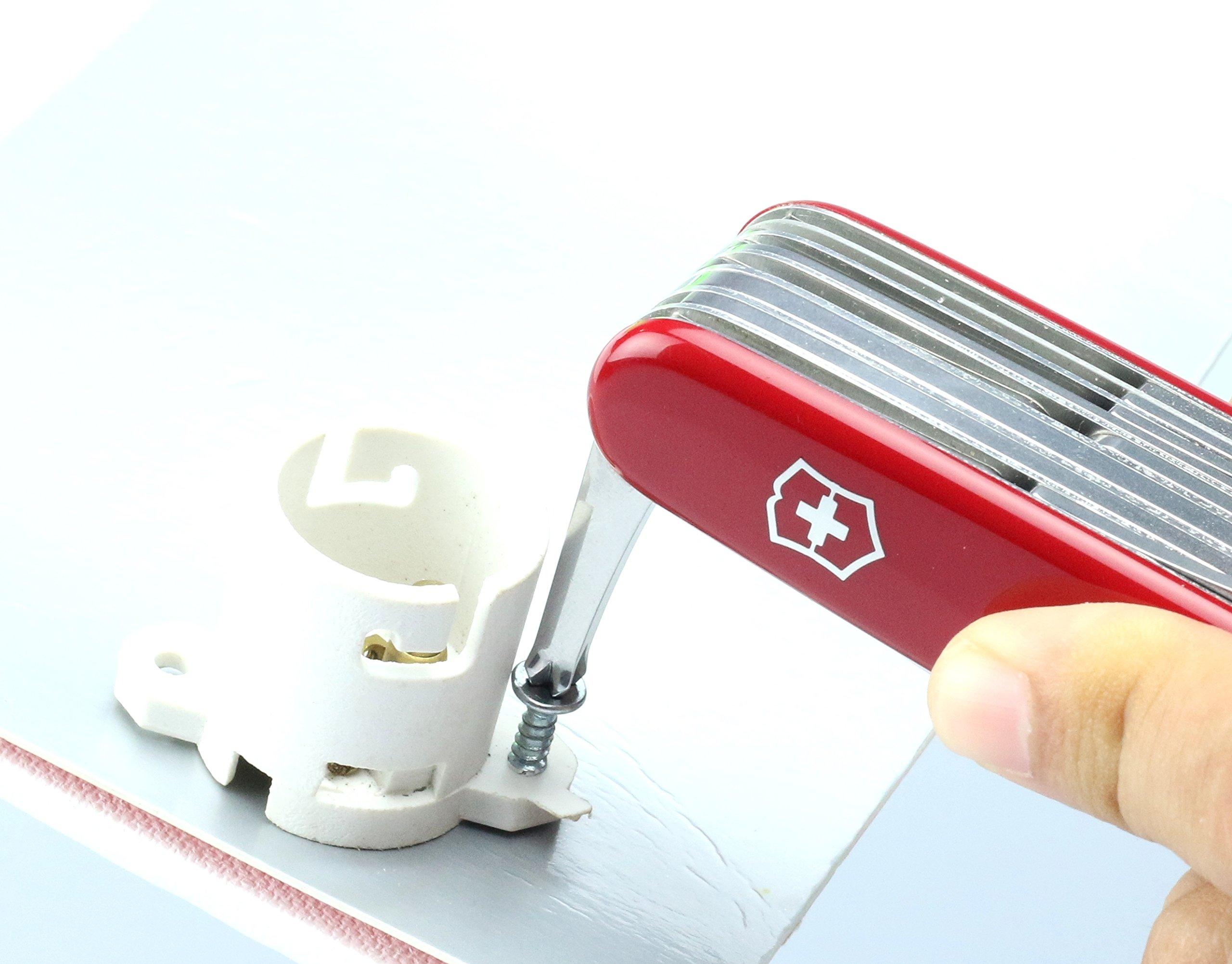Victorinox Swiss Champ Swiss Army Pocket Knife, Medium, Multi Tool, 33 Functions, Blade, Scissors, Red 36