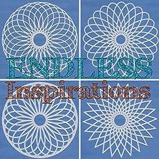 Endless Inspirations Original Stencils, 6x6 inch, Spirograph Bundle 1, 4 Pack - Spirograph 1, 2, 3, 4