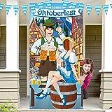 Oktoberfest Party Decorations Oktoberfest Photo Prop, Fondo de Fotomatón de Tela Gigante, Suministros Divertidos de Juegos Ok