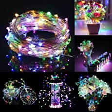 Techno E-Tail USB Copper String Lights 3M 30 LED Fairy Lights for Decoration (Multi-Color)