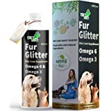 WOW DOG Fur Glitter Dog Hair Fall Control & Skin Coat Disease Solution with Concentrated Fatty Acids Supplement Omega 3 & 6 f