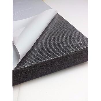 Mousse autocollante d'isolation acoustique Protection sonore Mallette instruments (100cm x 50cm x H) Blanc ou Noir