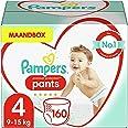 Pampers Maat 4 Premium Protection Luierbroekjes, 160 Stuks (9-15 kg), MAANDBOX, Pampers N°1 Luierbroekjes voor comfort en bes