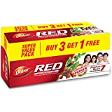 Dabur Red Paste - India's No.1 Ayurvedic Paste , Provides Protection from Plaque , Toothache , Yellow teeth , Bad Breath- 600