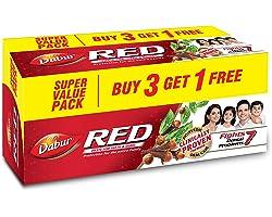 Dabur Red Paste - India's No.1 Ayurvedic Paste Plaque Removal, Cavity Protection, Eliminates Bad Breath, Gingivitis Preventio