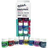 Pintura para Tela y Ropa Mont Marte Permanente y Lavable - 8 Colores x 20 ml - Pintura Textil Ideal para Personalizar Camiset