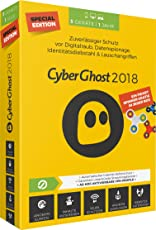 S.A.D Cyberghost 2018 1 Jahr Special Edition 3 Geräte PC, MAC, Android Disc Special Edition 3 Geräte 3 Geräte / 1 Jahr PC, MAC, Android-Geräte Disc Disc