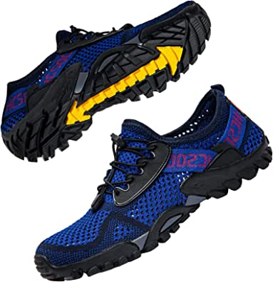 Ritiriko Water Shoes Unisex Aqua Shoes - Quick Drying Barefoot Shoes Trail Running Trainers for Beach Yoga Swim Surfing Diving Boating Snorkeling