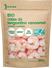La Sirena, Cola Langostino Vannamei Pelada Cocida (BIO) 200g (Congelado)