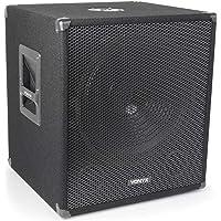 Vonyx SMWBA15 Caisson de basse DJ actif 600 W – Subwoofer sono bi-amplifié 15'', Mixage intégré, Echo mode, Connectique…