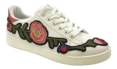 Baskets Fleurs Blanc tendance Wsurh