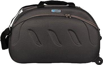 VIDHI Unisex Fabric Duffle Bag with Wheel 20-inch, 51cm(Grey, DFGR20)