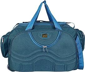 alfisha Lightweight Waterproof Travel Duffel Bag with Roller Wheels (Peacock, AFB-DUF-15 - Pk)