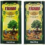 Figaro Olive Oil Tin, 1L + Figaro Olive Oil, 5L