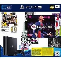 PlayStation 4 Pro Konsole - 1 TB JET Black mit EA Sports FIFA 21 PS 4 (inkl. kostenlosem Upgrade auf PS 5) [Edizione…
