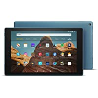 Fire HD 10 Tablet │ 10.1 inch full HD display (1080p), 32 GB, dark blue, with advertising