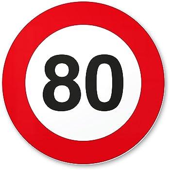 Dankedir 80 Geburtstag Kunststoff Schild 20 X 20 Cm Geschenk 80
