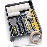 Tradelux® Rullo Per Pittura Professionale Teli Antigoccia Pennelli Set Kit Fai Da Te Verniciare Imbiancare Taglierino Spatola