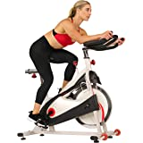 Sunny Health & Fitness Unisex Adult SF-B1509 Belt Drive Premium Indoor Cycling Bike - White, One Size