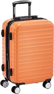 Hochwertiger Hartschalen-Trolley mit eingebautem TSA-Schloss und Laufrollen, 55 cm, Orange