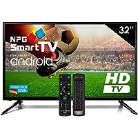 """Téléviseur LED 32"""" HD NPG Smart TV Android + clavier QWERTY/Motion. WiFi TDT2 H.265 USB Enregistreur"""