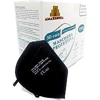 Amazzonia Mascherine Ffp2 Nere 20 Pezzi Certificate CE 2163 a 5 Strati Istruzioni In Italiano