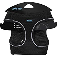 Emily Pets Dog Harness - All Weather Mesh, Step in Adjustable Harness for Small and Medium Dogs (Small, Black)