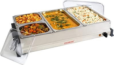 Clearline Stainless Steel Food Warmer (Silver)