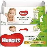 Huggies baby billendoekjes - Natural Care Extra Care - 448 stuks - 8 x 56 doekjes - Voordeelverpakking