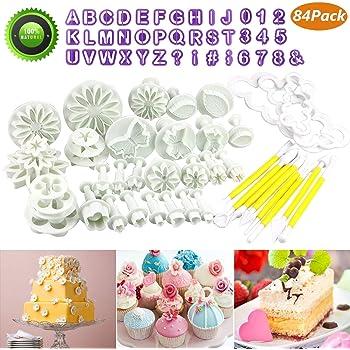 Buluri 84 Pcs Fondant Cutters Tools Set Diy Fondant Cake