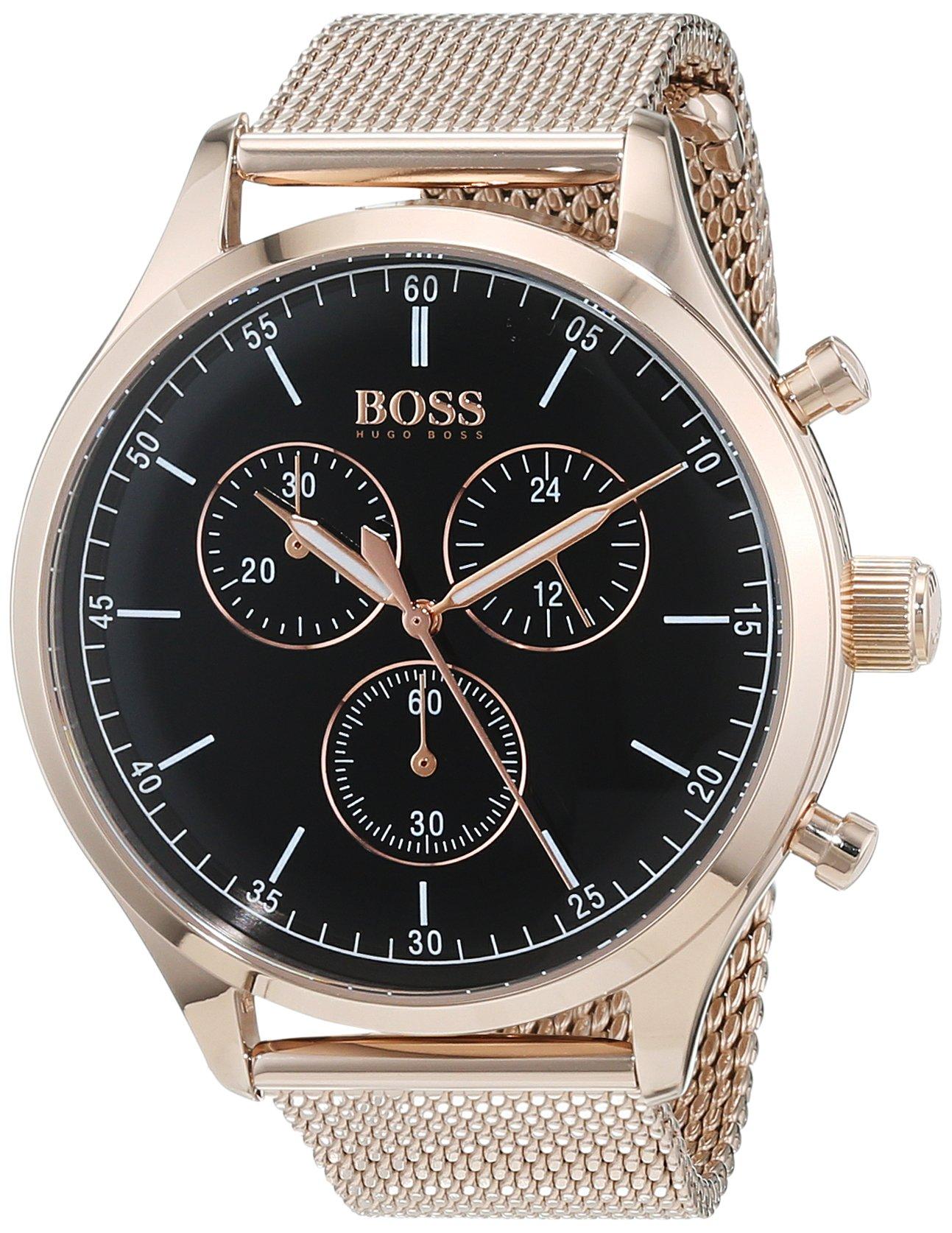 55886ff1a121 Hugo BOSS Reloj Cronógrafo para Hombre de Cuarzo con Correa en Acero  Inoxidable 1513548
