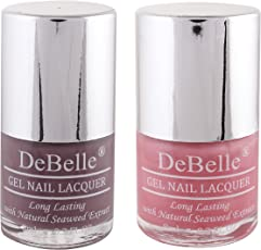 DeBelle Nail Polish Combo kit of 2(Mauve & Pink)