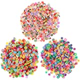 FRCOLOR 3000 Pieces Nail Art Slices,3D Fruit Slices Nail Art Decorations Christmas Slime Slices Making Supply for Crafts…