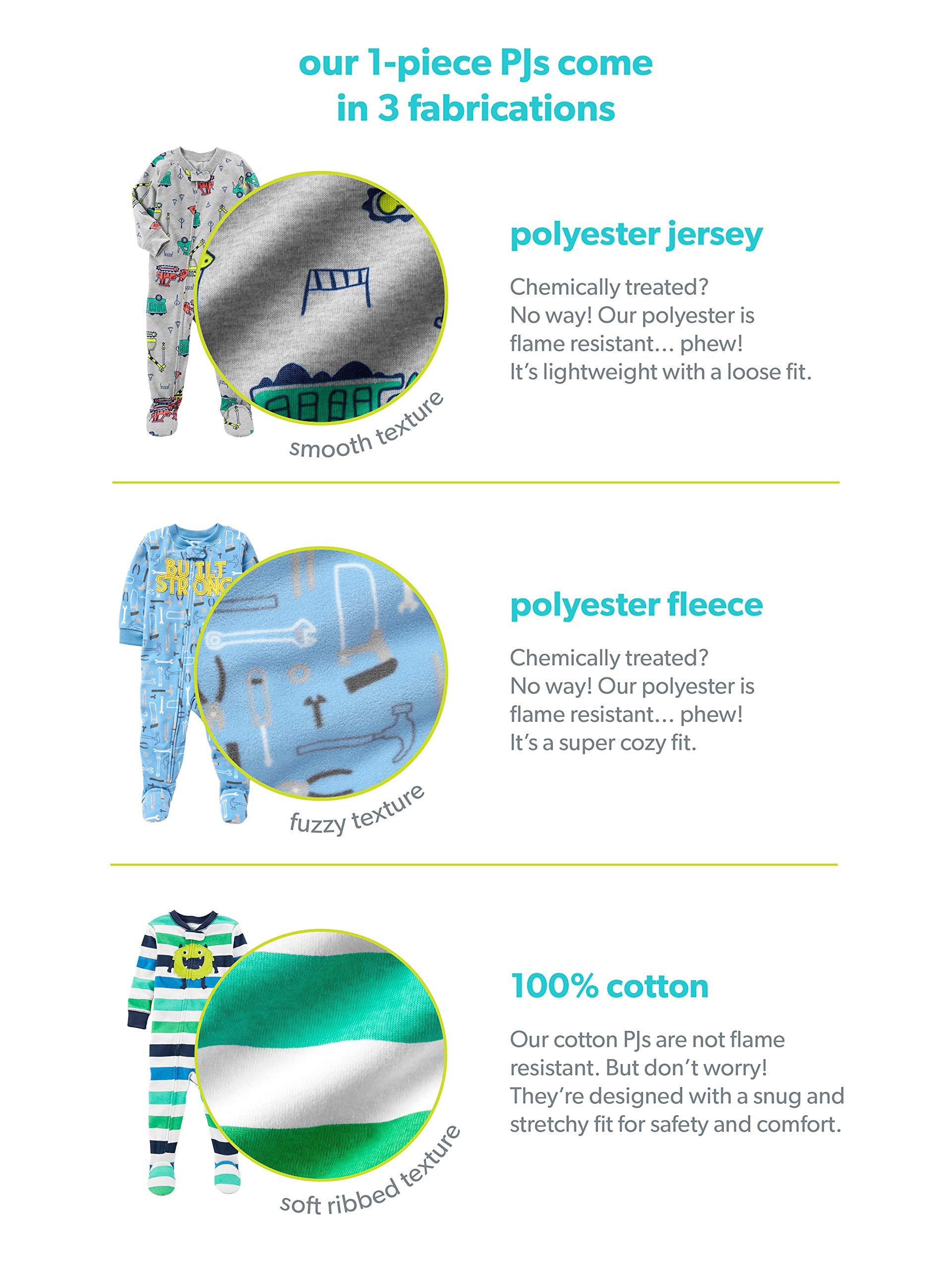 Simple Joys by Carter's pijama de algodón sin pies para bebés y niños pequeños, paquete de 3 4
