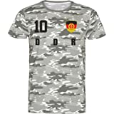 Nation DDR T-Shirt Camouflage Jersey Style Number 10 Army