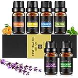 Etherische oliën set, Aiemok 6 x 10 ml etherische oliën cadeauset 100% pure therapeutische kwaliteit geurolie Aromatherapie o