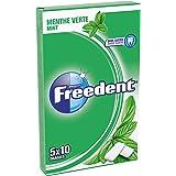 FREEDENT - Menthe verte - 5 Paquets de 10 dragées  de Chewing-Gum sans sucres (Lot de 10)