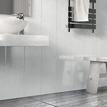 The Cladding Store Matt White Wood Effect Bathroom Pvc