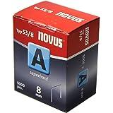 """Novus Graffe a filo sottile da 8 mm """"super duro"""" - Confezione di groppini economica - 5000 punti metallici di tipo 53/8 d'acc"""