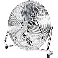 Ventilateur STIER, 145 W, ventilateur de plancher aspect métallique, diamètre 50 cm, 3 niveaux de ventilation, pour…