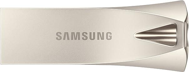 Samsung Bar Plus 32GB - 200MB/s USB 3.1 Flash Drive Champagne Silver (MUF-32BE3/AM)