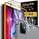 UniqueMe [2-pak] Ochraniacz ekranu do iPada Pro 2020 12,9 cala i [2 sztuki] ochraniacz obiektywu do aparatu iPad Pro 2020 12,