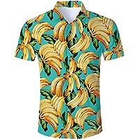 RAISEVERN Camicia Hawaiana Divertente da Uomo Estiva Camicia Stampata Camicie Casual a Maniche Corte Completi…