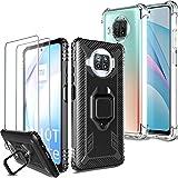 Milomdoi [4 Articulos] 2 Funda +2 Packs Protectore Pantalla Cristal Templado para Xiaomi Mi 10T Lite 5G, [Grado Militar Anti-