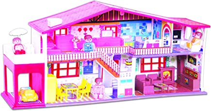 (CERTIFIED REFURBISHED) Toyzone My Deluxe Doll House, Red (50 Pieces)