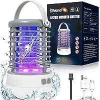 Elfeland Lampe Anti Moustique Electrique 3 en 1 Lampe Camping Exterieur 3 Modes Éclairage Etanche IP65 Tue Mouche…